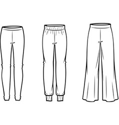 Womens casual pants vector
