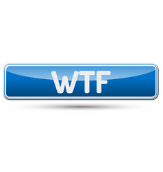 Wtf - abstract beautiful button with text vector
