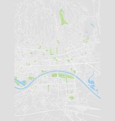 Zagreb colored map vector