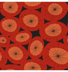 abstract red flower pattern vector image vector image