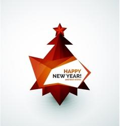 Christmas tree modern geometric design vector image