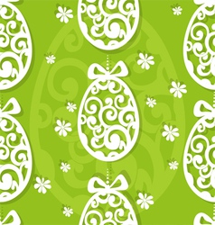 Easter egg openwork appliques seamless background vector image vector image
