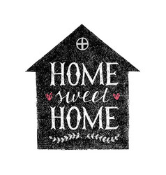 sweet home hand lettering poster vector image