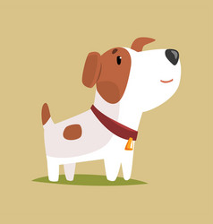 jack russell puppy character cute funny terrier vector image vector image