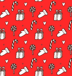 Sketch Christmas seamless pattern vector image vector image