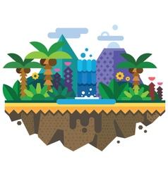 Uninhabited island jungle vector image vector image