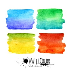 Watercolor textured paint stains colorful set vector image vector image