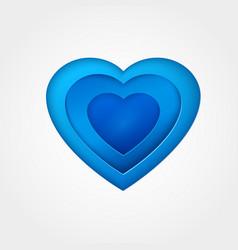 blue paper heart vector image
