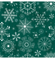 Christmas seamless green white pattern vector image vector image