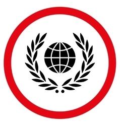Global Emblem Flat Rounded Icon vector image