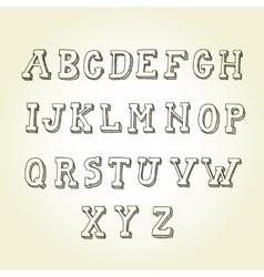 Hand drawn font retro alphabet vintage style vector