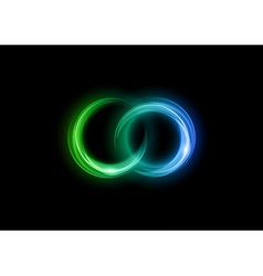 neon light dark green blue vector image