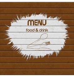 restaurant menu paint on wooden background vector image vector image
