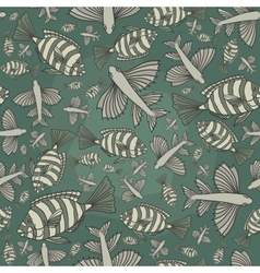 Seamless texture with fishes vector image