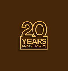 20 years anniversary design line style vector