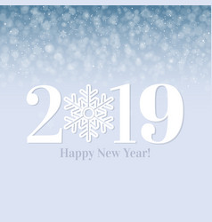 2019 happy new year postcard vector image