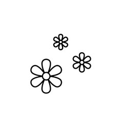 3 flowers outline icon signs and symbols can be vector image