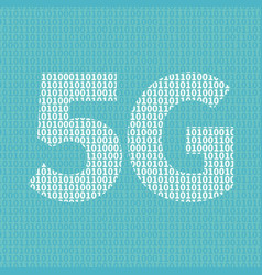 5g network technology in binary code vector image