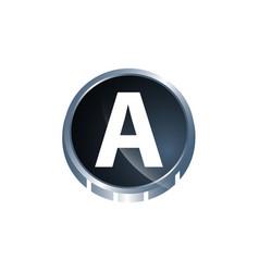 a letter logo a letter logo design template a vector image