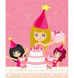 A of kids celebrating a birthday party vector image
