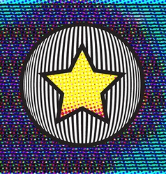 Abstract background with Star on a Circle vector
