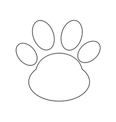 animal paw print icon vector image