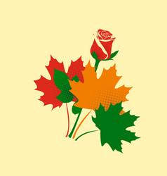 Autumn bouquet vector