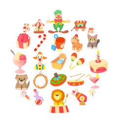 bairn icons set cartoon style vector image