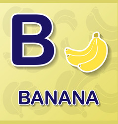 Banana alphabet background vector
