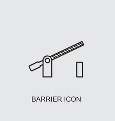 Barrier icon vector