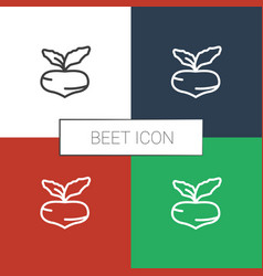 Beet icon white background vector