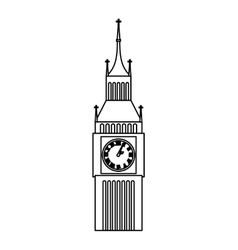 big ben clock isolated icon vector image