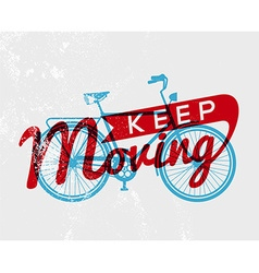 Bike concept typography poster retro bicycle vector