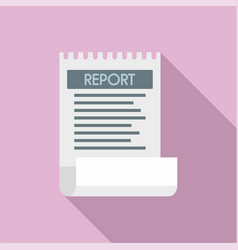 bill paper report icon flat style vector image