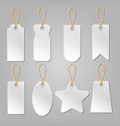 Blank baggage labels white luggage tag clothes vector