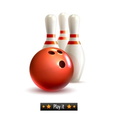 bowling isolated set vector image