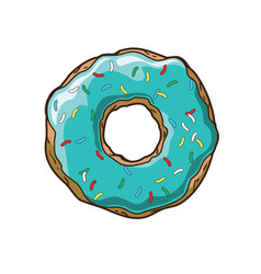 bright donut vector image