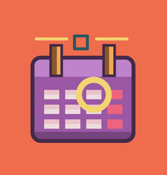 calendar icon set of great flat icons use for vector image