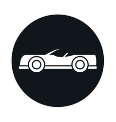 Car roadster model transport vehicle block and vector