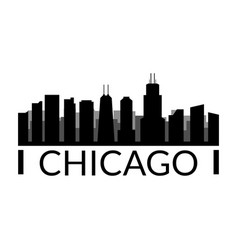 chicago skyline in on white background vector image