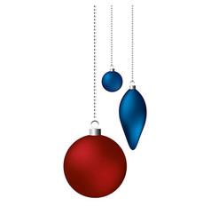 christmas decoration ornament balls vector image