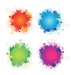 Colour splashes vector