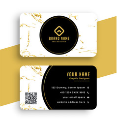 Creative marble texture business card premium vector
