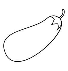 Eggplant icon outline style vector image