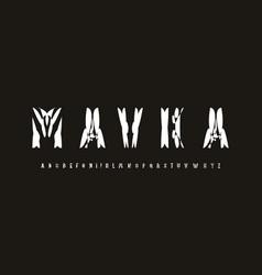 Ethnic font alphabet letters modern logo shirts vector