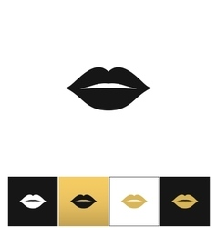 Female lips kiss print icon vector