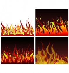 fire backgrounds set vector image vector image