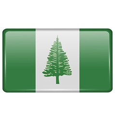 Flags Norfolk Island in the form of a magnet on vector