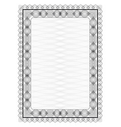 frame with guilloche pattern vector image