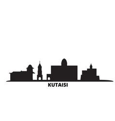 Georgia kutaisi city skyline isolated vector